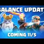 [News] Balance Update Coming (11/5) - Royal Hogs, Tombstone, Giant and more! • r/ClashRoyale