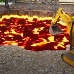 Fortnite's Dusty Divot has started to fill with lava, heralding big changes