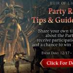 [Event] Share Your Party Raid Tip & Guide Event (12/17 ~ 12/22 CST)
